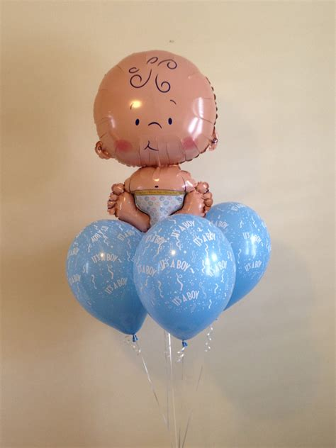 Baby Shower Balloon Bouquet by The Balloon Shop Baby Boy Balloon Bouquet