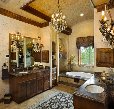 Bathroom Vanity Makeover Ideas by Tuscan Style Master Bath Mediterranean Bathroom