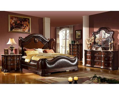 traditional bedroom furniture sets traditional style bedroom set w uphostered bed mcfb3000set