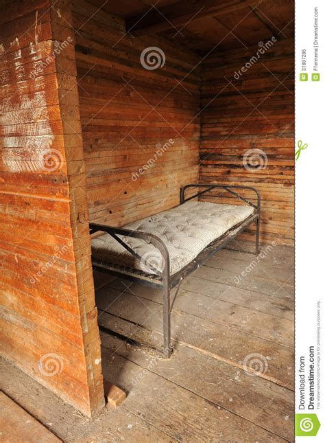 old bed frames room with a metal bed frame and old mattress royalty free stock image image 31887286