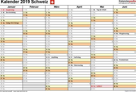 Calendar 2019 Pdf Kalender 2019 Schweiz Zum Ausdrucken Als Pdf