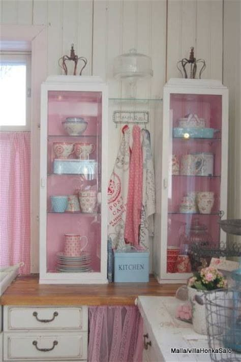 shabby chic painted kitchen cabinets sweet shabby chic kitchen painted inside of cabinets a