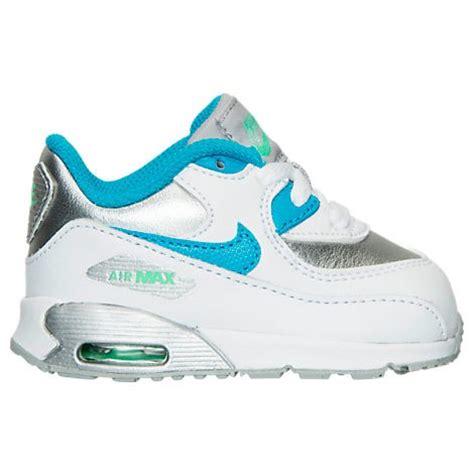 toddler nike air max 90 running shoes white blue lagoon metallic silver toddler nike air