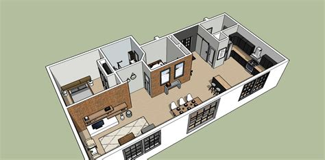 Small House Floor Plans With Loft Sketchup Design Kristina Lynne