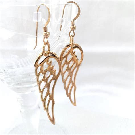 Wing Earrings gold wing earrings by hurleyburley