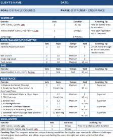 Nasm Opt Template by Workout Plans Archives Page 4 Of 5 Nasm