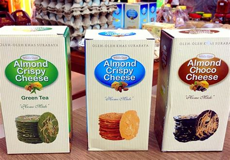 Almond Chrispy Wisata Rasa Surabaya Asli almond crispy cheese oleh oleh khas dari surabaya jdlines