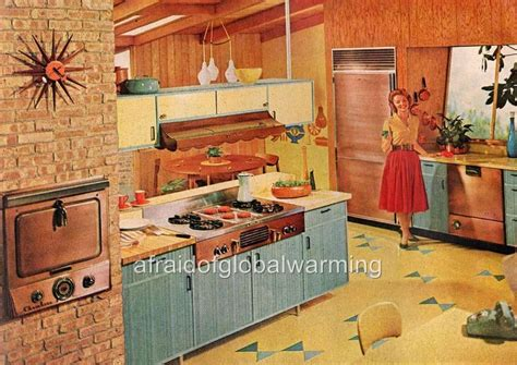 60s kitchen print 1950s 60s housewife in kitchen ebay