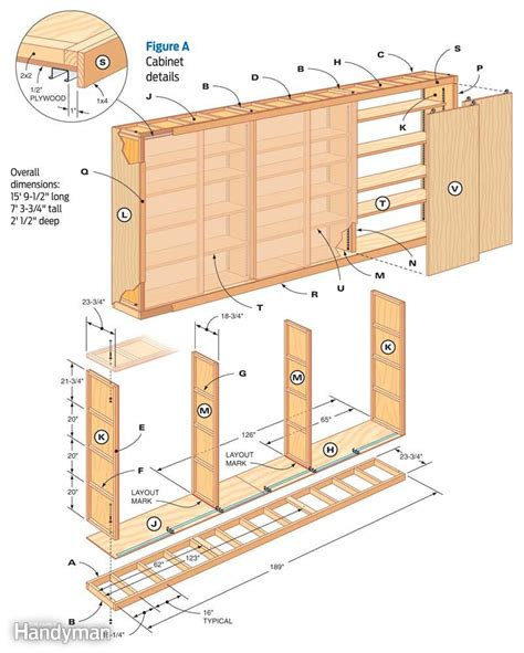 plans to build a garage giant diy garage cabinet the family handyman