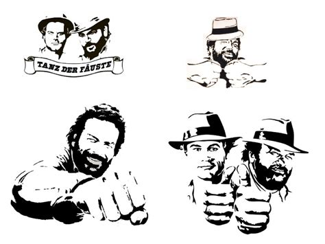Aufkleber Auto Bud Spencer by Bud Spencer Wandtattoo Terence Hill