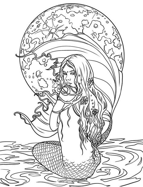 coloring pages of mermaids and fairies artist selina fenech fantasy myth mythical mystical legend