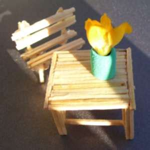 matchstick craft for miniature match stick furniture