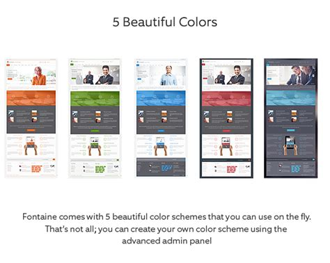 fontaine clean business joomla template themeforest