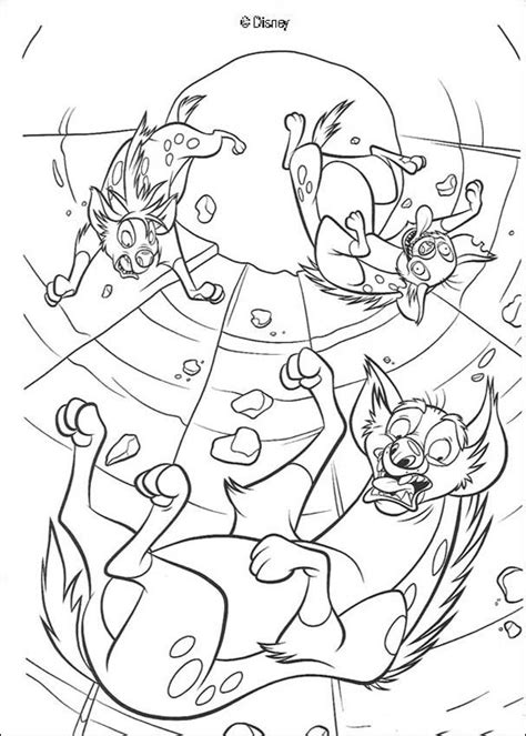 lion king hyenas coloring pages shenzi banzai and ed plunge coloring pages hellokids com