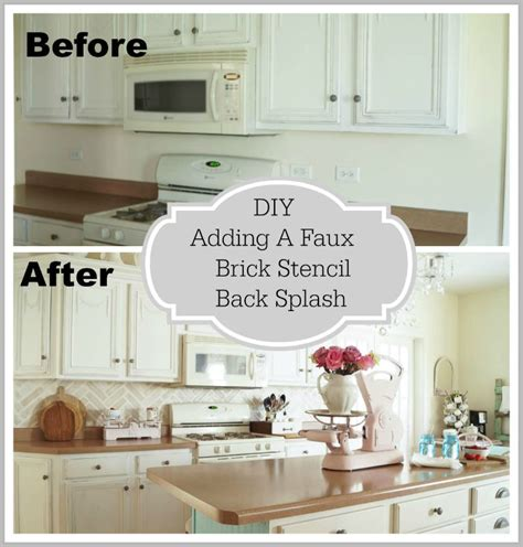 how to add backsplash how to add backsplash diy brick back splash cutting edge
