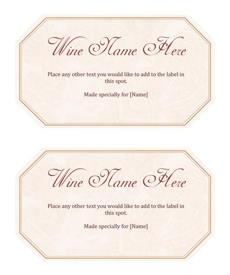 printable wine label templates free wine label template