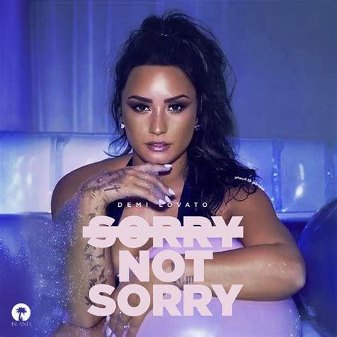 demi lovato lyrics sorry not sorry demi lovato s quot sorry not sorry quot single receives 3x