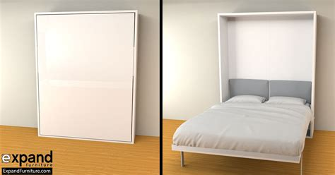 Compact Beds | hover compact wall bed queen size expand furniture