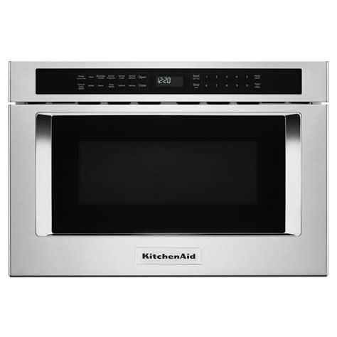 kitchenaid ykmhs120es counter top microwaves kitchenaid 24 in w 1 2 cu ft under counter microwave