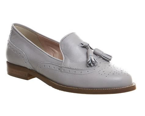 Maharani Loafer Flats Dir Co office vectra brogue loafers grey leather flats