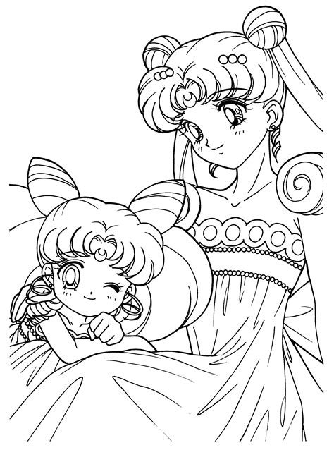 Coloring Page Sailormoon Coloring Pages 111 Sailor Moon Princess Serenity Coloring Pages Free Coloring Sheets
