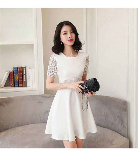 Minidress Jeslyn Ready 4 Warna dress gaun wanita warna putih polos myrosefashion