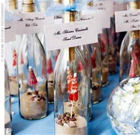 message in a bottle centerpiece bottle with small