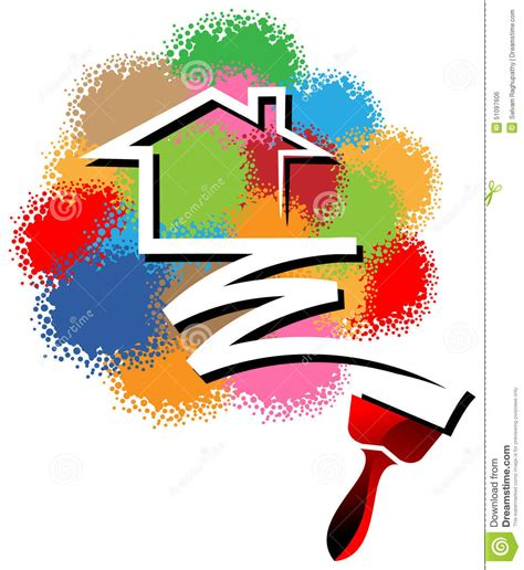 Interior Paints For Home by House Painting Logo Stock Vector Image 51097606