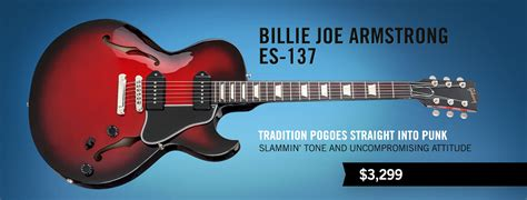 Gitar Gibson Les Paul 137 gibson gibson billie joe armstrong es 137