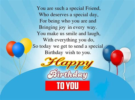 message for a friend birthday wishes for a special friend sad poetry