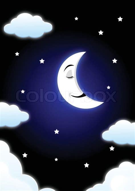 Kaos Bunny Sleep On Moon moon sleeping stock vector colourbox