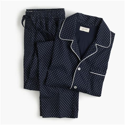 Poplin Set cotton poplin pajama set in polka dot pyjama sets