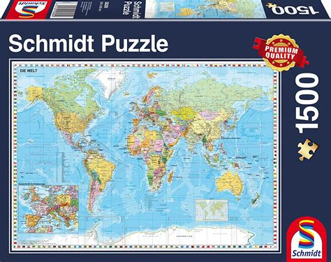 Jigsaw Puzzle Schmidt View On Comder See 1000 Pieces puzzle world map in german schmidt spiele 58289 1500