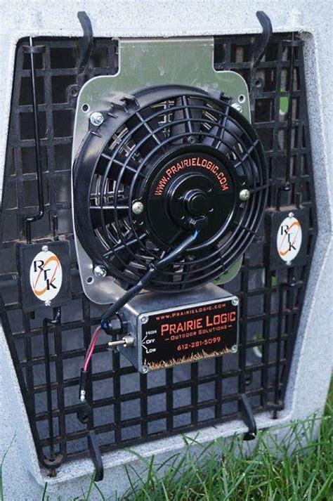 dog crate fan system best heavy duty dog crate fans by prairie logic