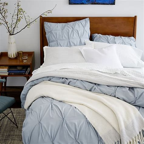 Pintuck Duvet Cover Organic Cotton Pintuck Duvet Cover Shams West Elm