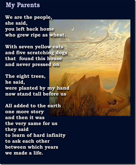 poems for parents a nomadic view poem for my parents