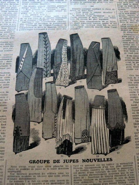clothes pattern magazine vtg 1910s paris fashion sewing pattern magazine la mode