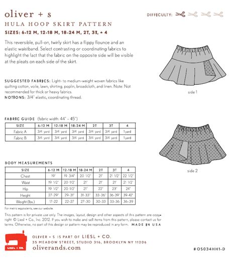 pattern review oliver s oliver s os034hh hula hoop skirt