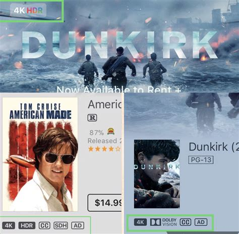 where was the film dunkirk made hdr movies advertised vs actual availability movies