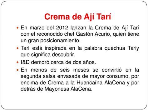 alacena crema de aji tari alicorp salsas alacena y tar 237