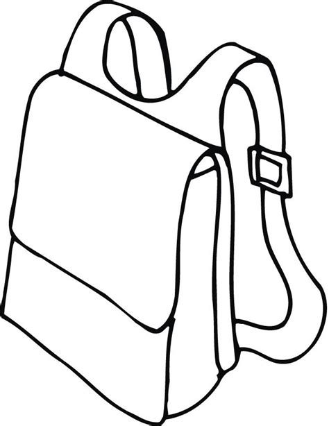 backpack coloring pages 27999 bestofcoloring com