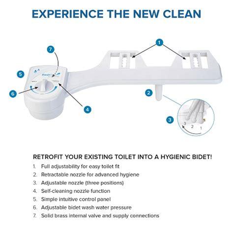 Bidet Toilet Seat Attachment by Brondell Freshspa Easy Bidet Toilet Seat Attachment In