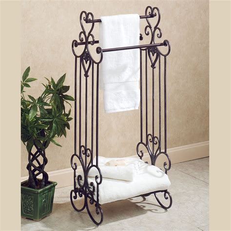 standing towel rack for bathroom aldabella tuscany slate bath towel rack stand