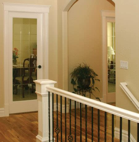 interior railings and banisters handrails and stairs finished with satin varnish