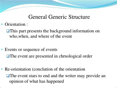 Biography Text Generic Structure | recount text
