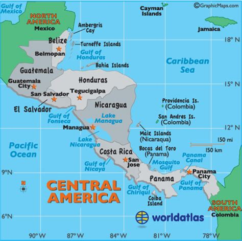 map of central america where is belize located
