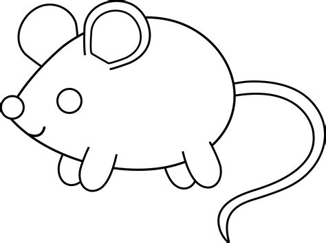 Cute Mouse Coloring Pages | cute colorable mouse free clip art