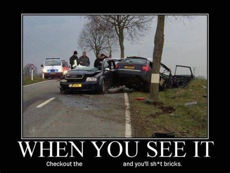 Car Accident Memes - funny car crash meme car cut in half accident audi