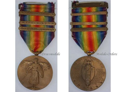 Czechoslovakia Ww1 Medal Victory Interallied 1914 Wwi D usa ww1 victory interallied medal 3 bars wwi 1914 1918 somme ypres lys 27 30 division