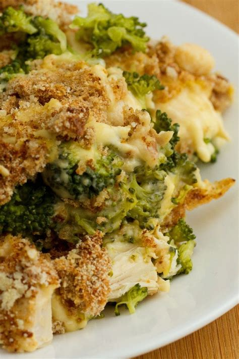 cheesy chicken divan casserole recipe shredded chicken and broccoli in a creamy cheddar cheese